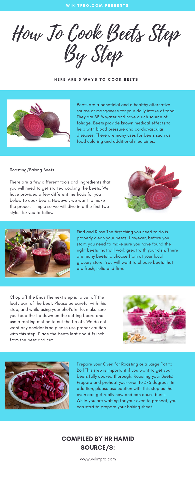 how to cook beets infographic