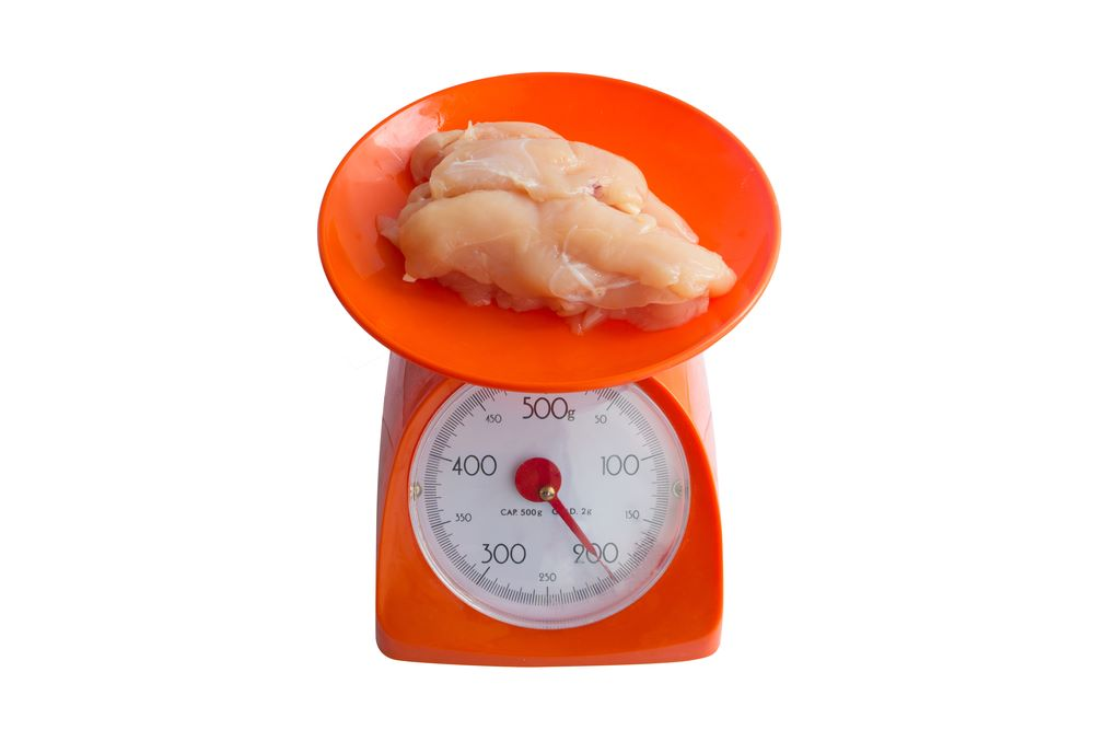 how to measure a chicken weigh breast